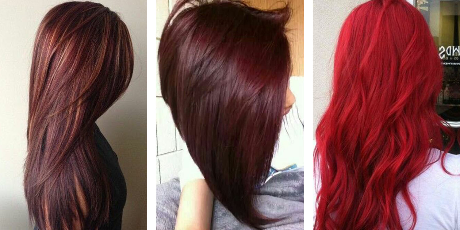 Hair color images - Cool Reds 9 Red Mahogany Hair Color