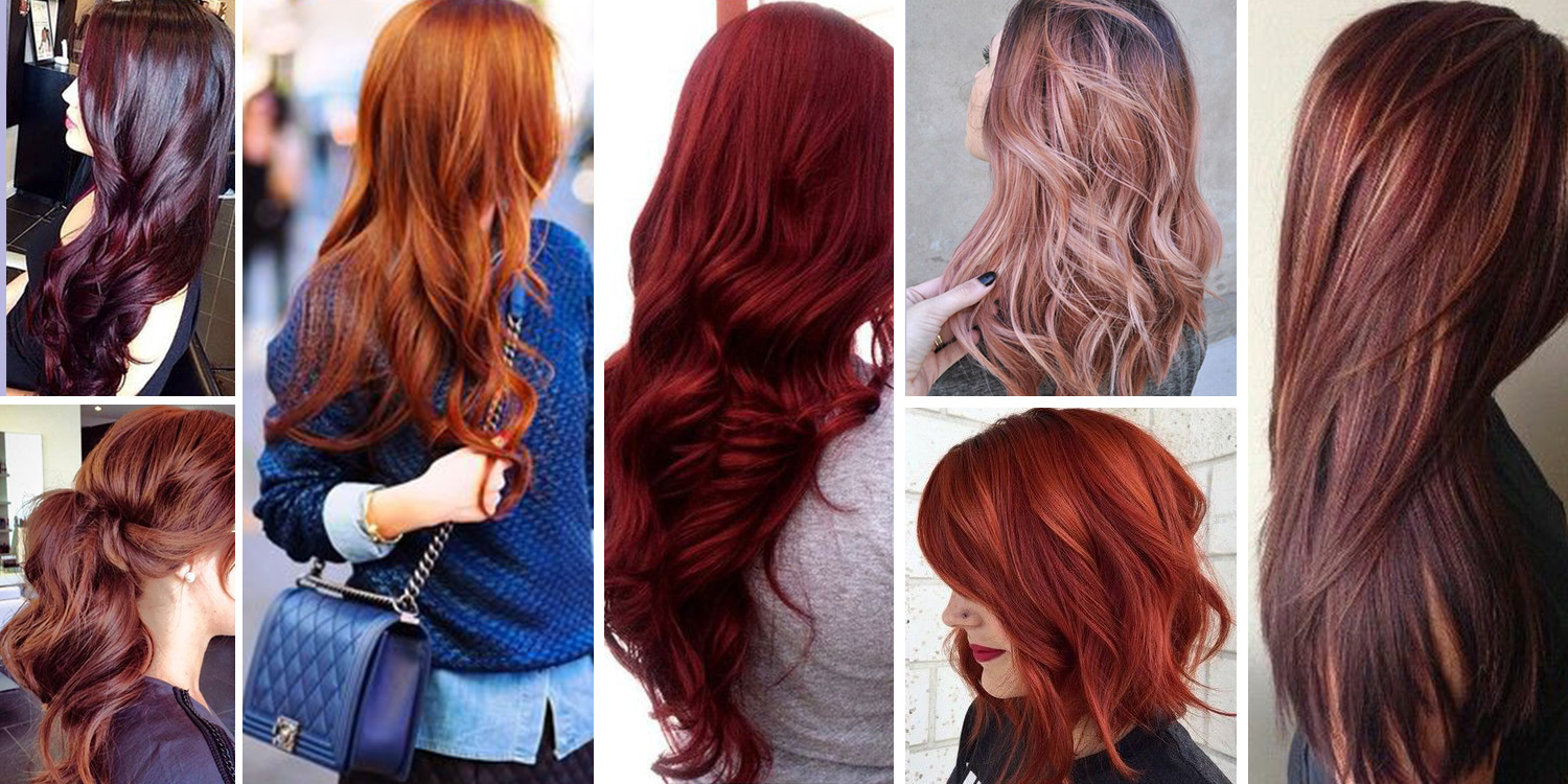 Bright red hair color shades