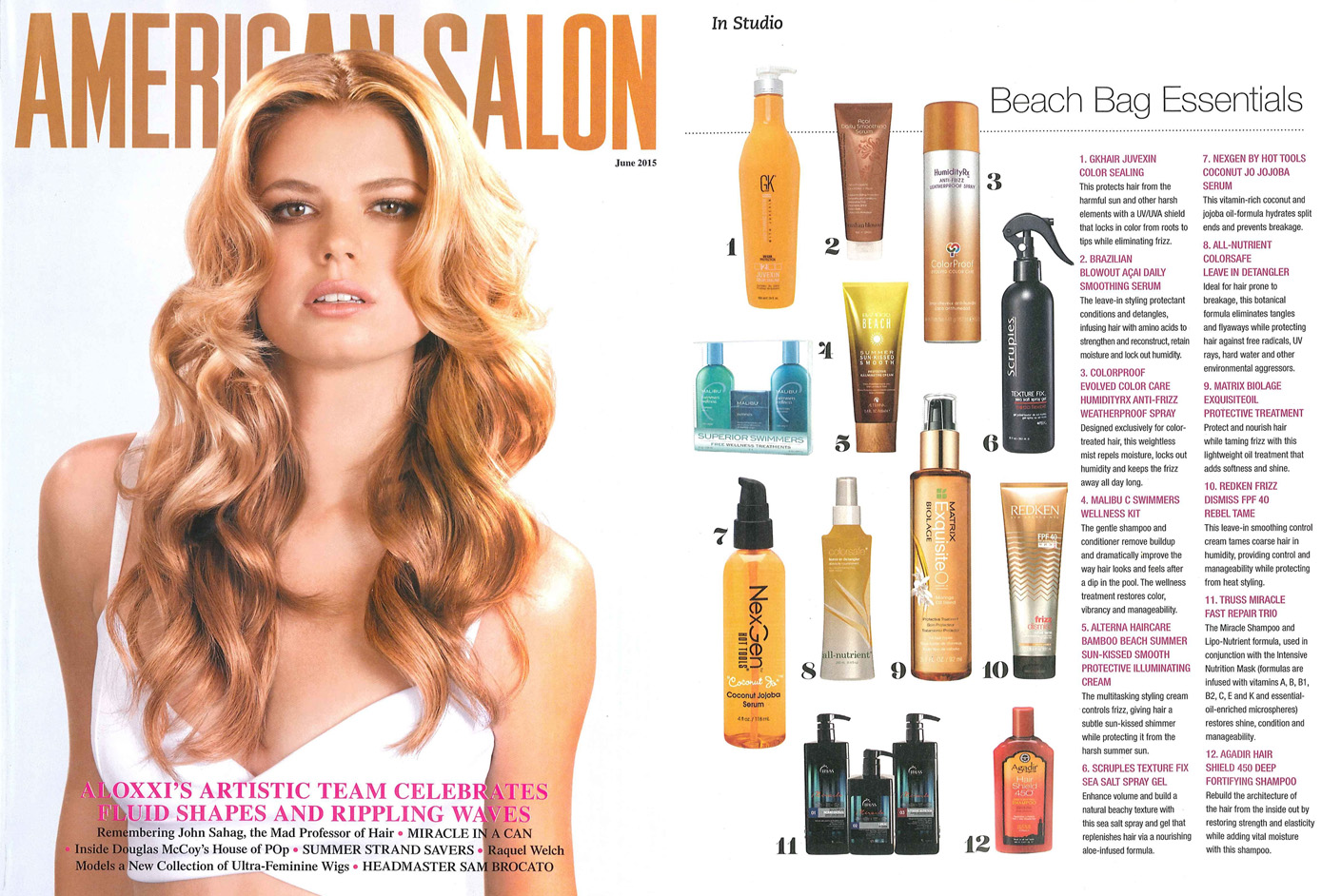 Matrix Haircare As Seen In American Salon May 2015 Biolage Exquisite Oil Full Spread