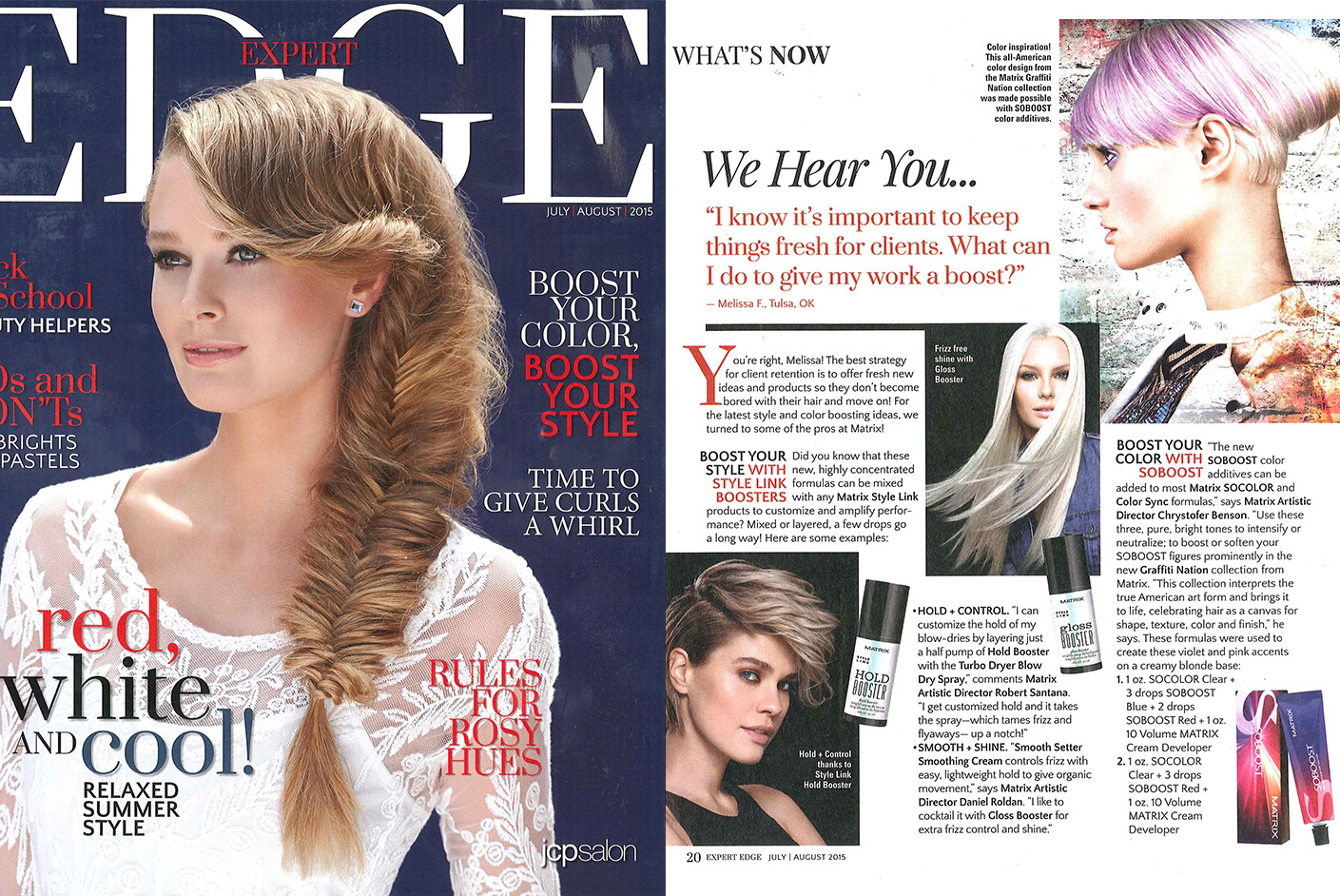 Matrix Haircare As Seen In Edge Magazine Full Spread