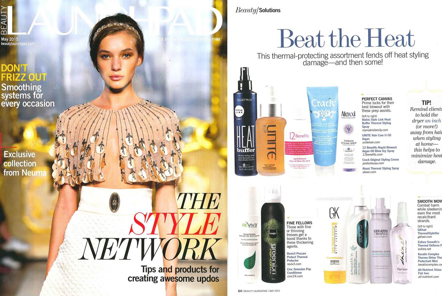 Matrix Haircare As Seen In LaunchPad Style Link May 2015 Full Spread