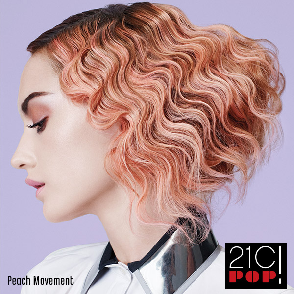 Matrix Hair Trends 21st Century Pop Peach Movement