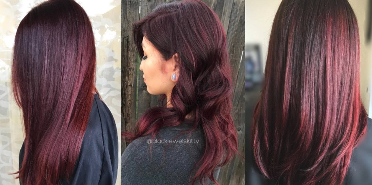 Hair color images - The Burgundy Hair Color Commitment