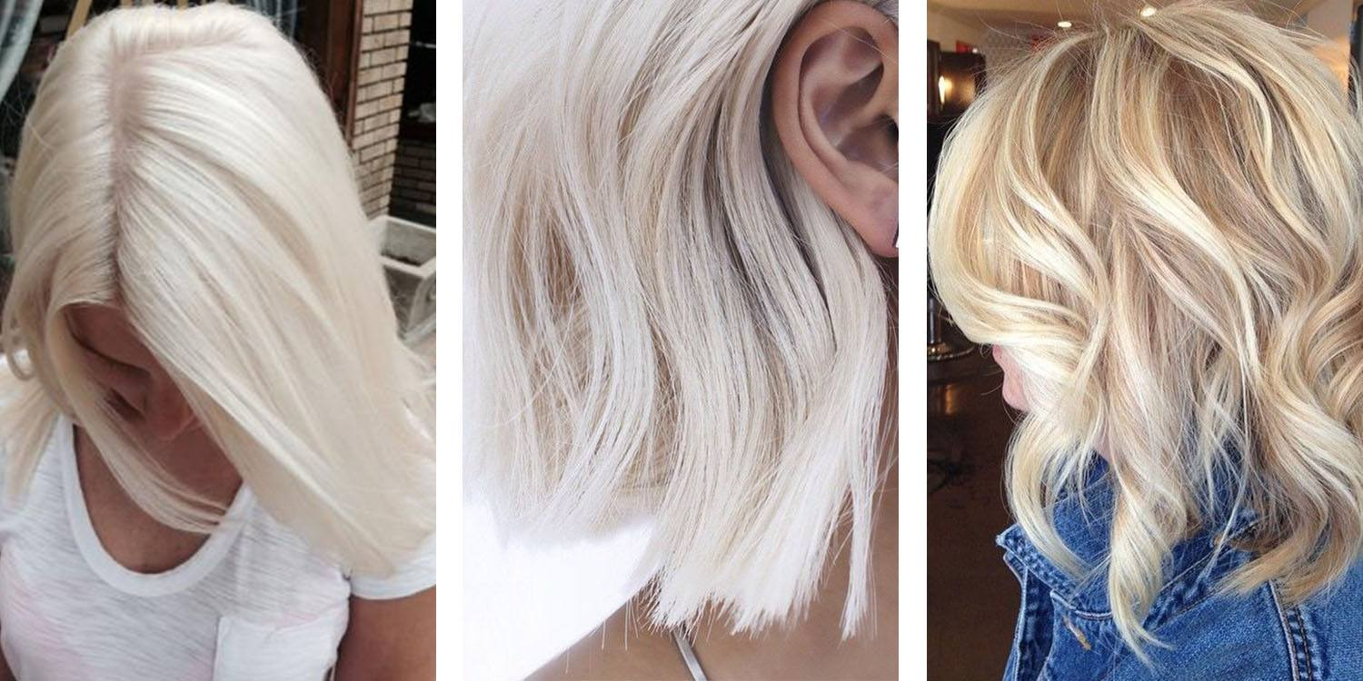Platinum Blonde Hair Color side-by-sides