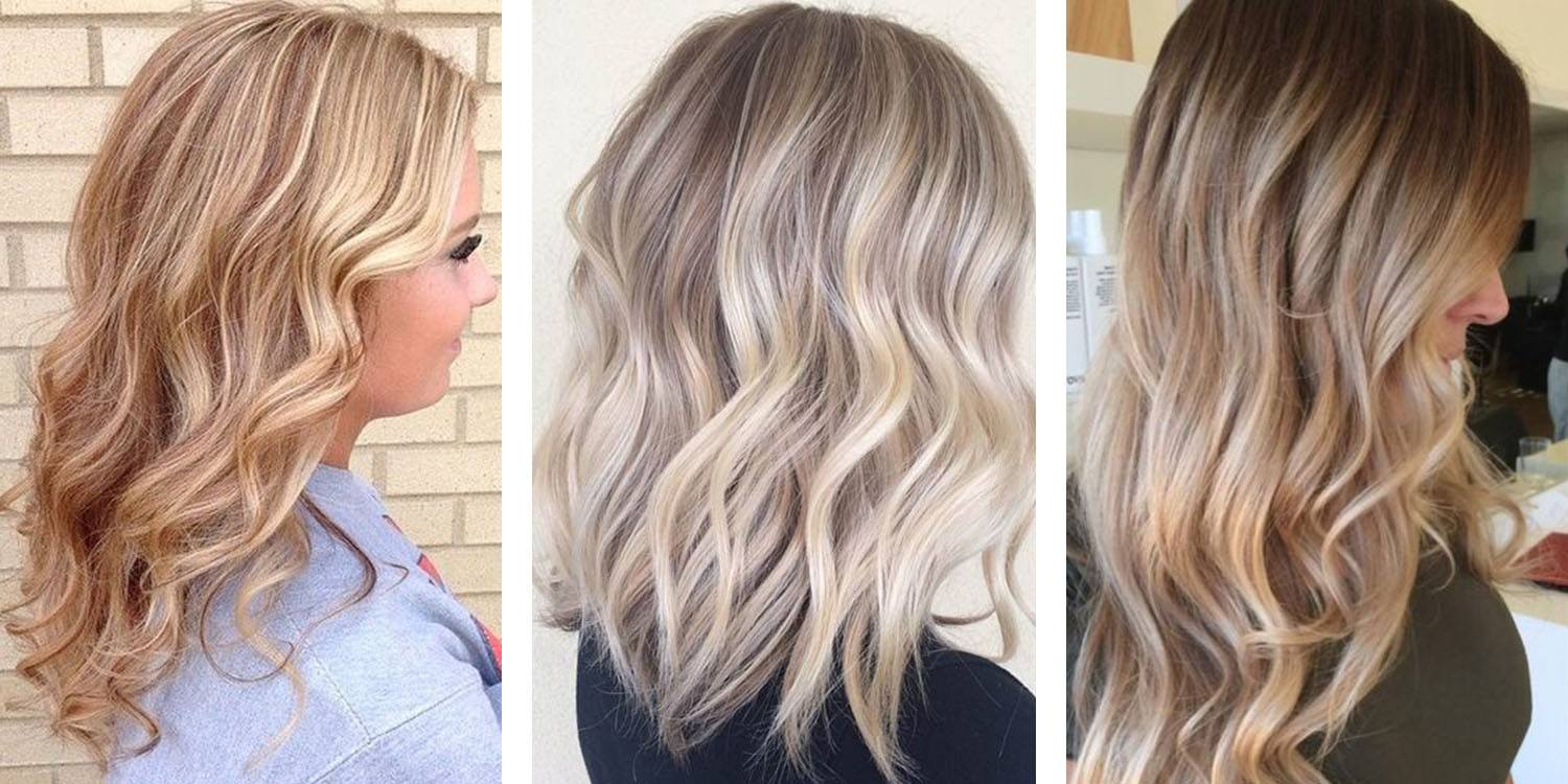 Golden Blonde, Ash Blonde and Sandy Blonde Hairstyles