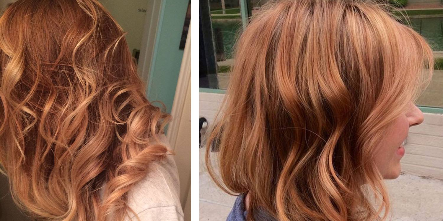 Auburn Blonde and Copper Blonde hairstyles