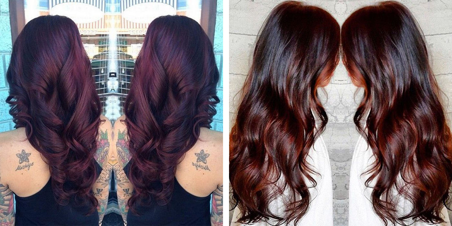 Lovely 20. Chocolate Cherry Brown Hair Color
