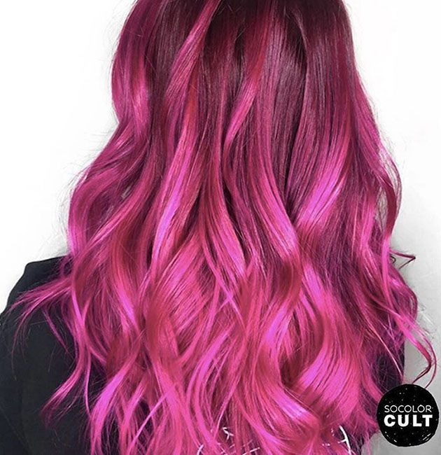 pink vibrant hair color