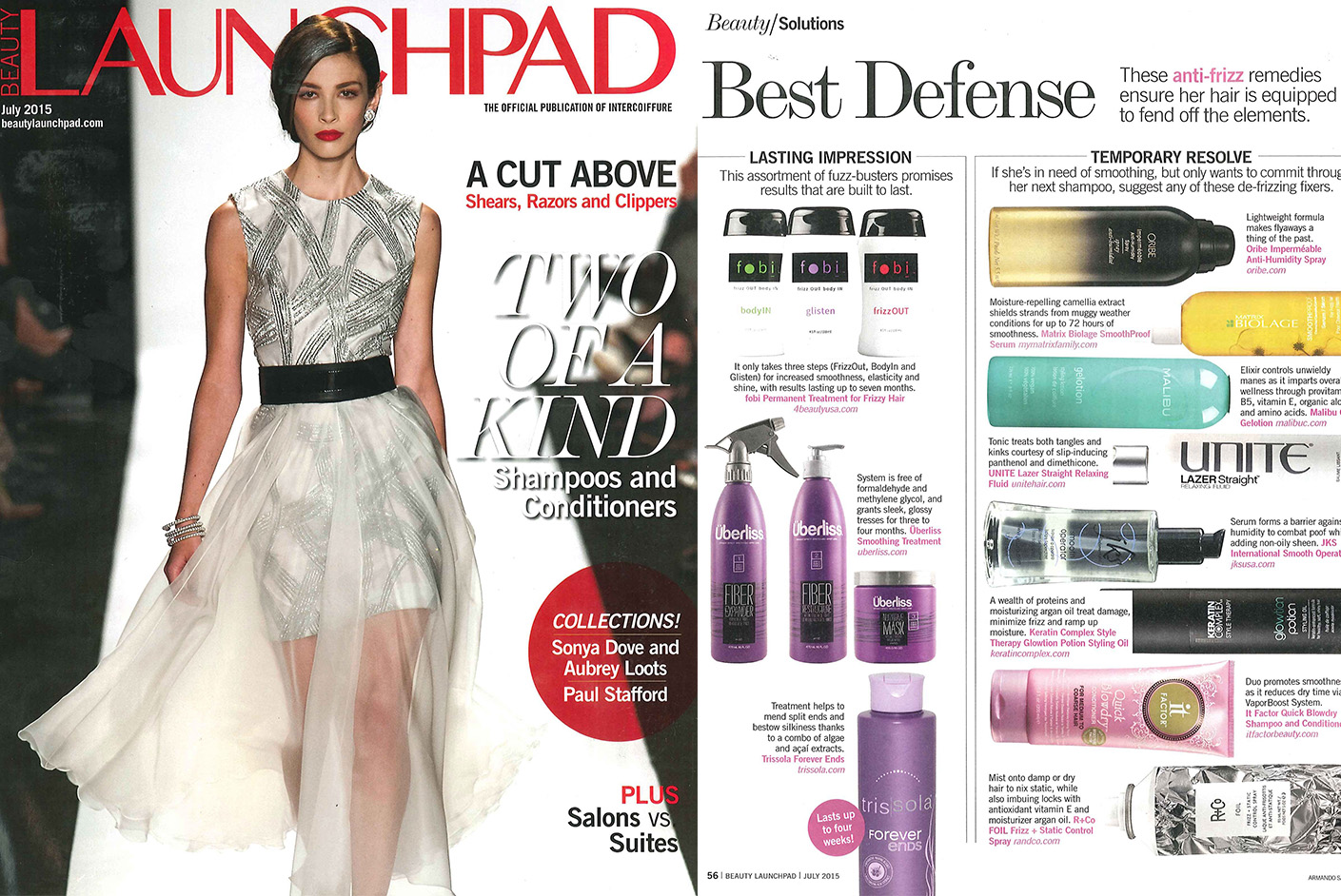 Matrix Haircare As Seen In LaunchPad Biolage June 2015 Full Spread