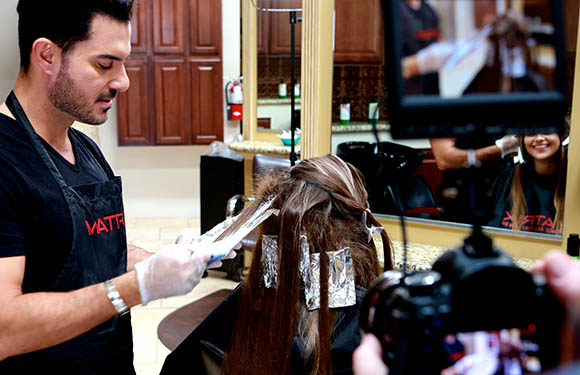 Matrix Haircare Artistic Director George Papanikolas In Action 6
