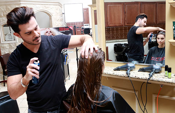 Matrix Haircare Artistic Director George Papanikolas In Action 7