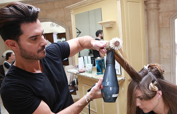 Matrix Haircare Artistic Director George Papanikolas In Action 8