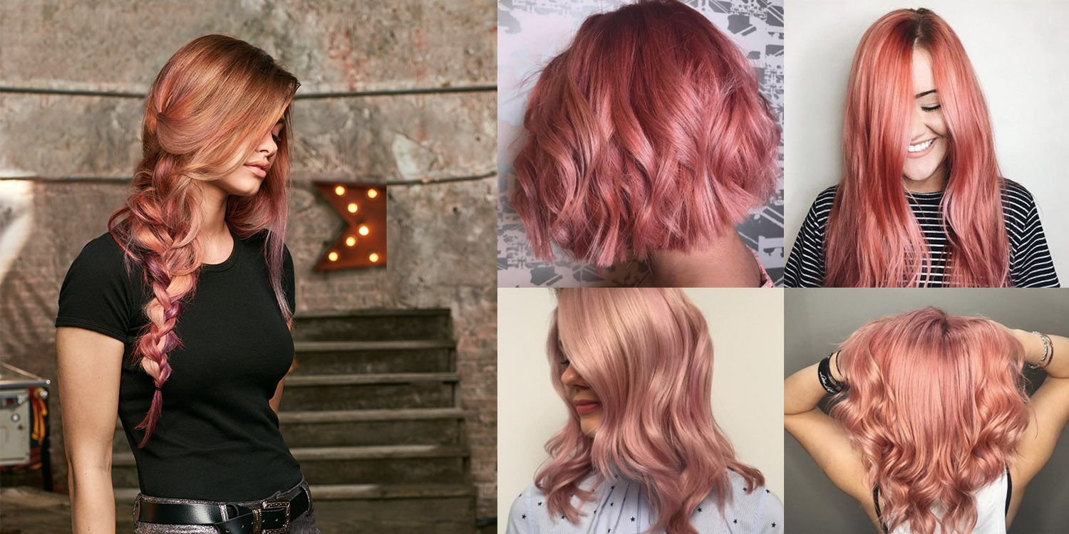 ways to rock rose gold hair