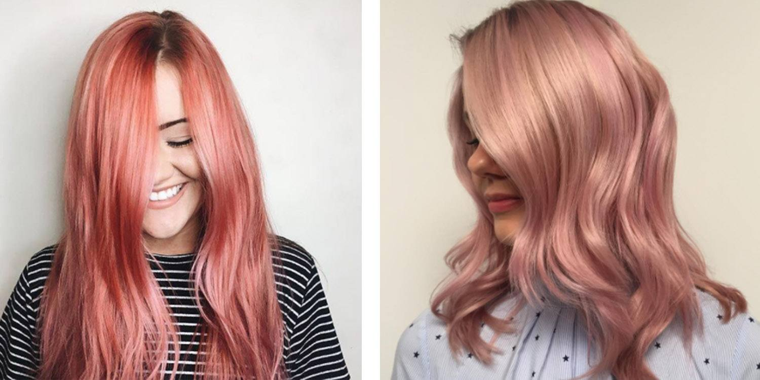 Fashion style Gold rose hair color formula for girls