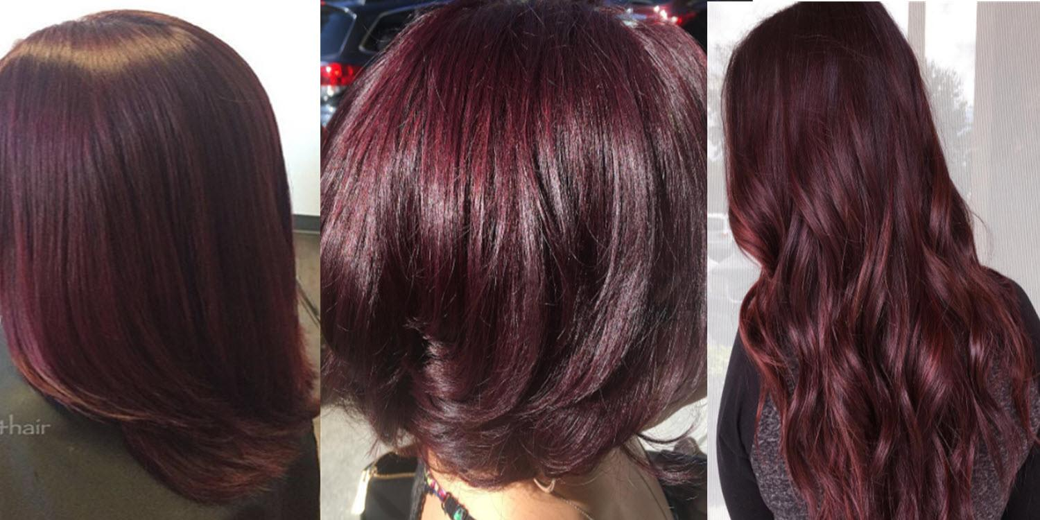 Is burgundy hair color right for you matrix adjust your makeup to match your burgundy hair geenschuldenfo Images
