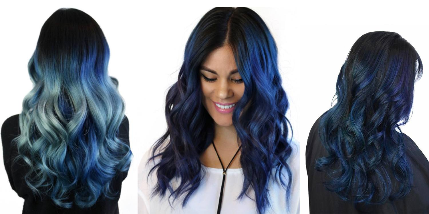 blue hair color styles top fall hair color trends matrix 2687