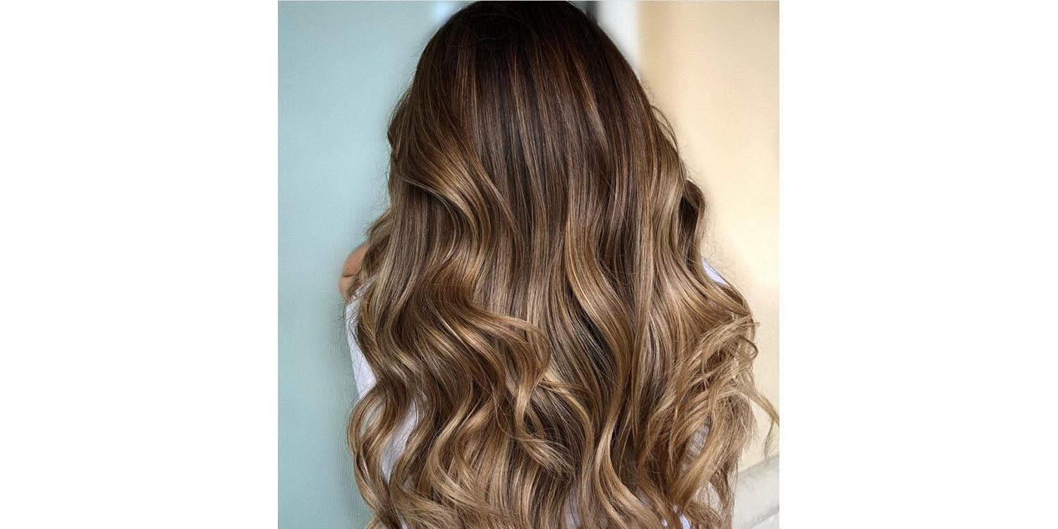 Caramel Drizzle highlights for dark hair