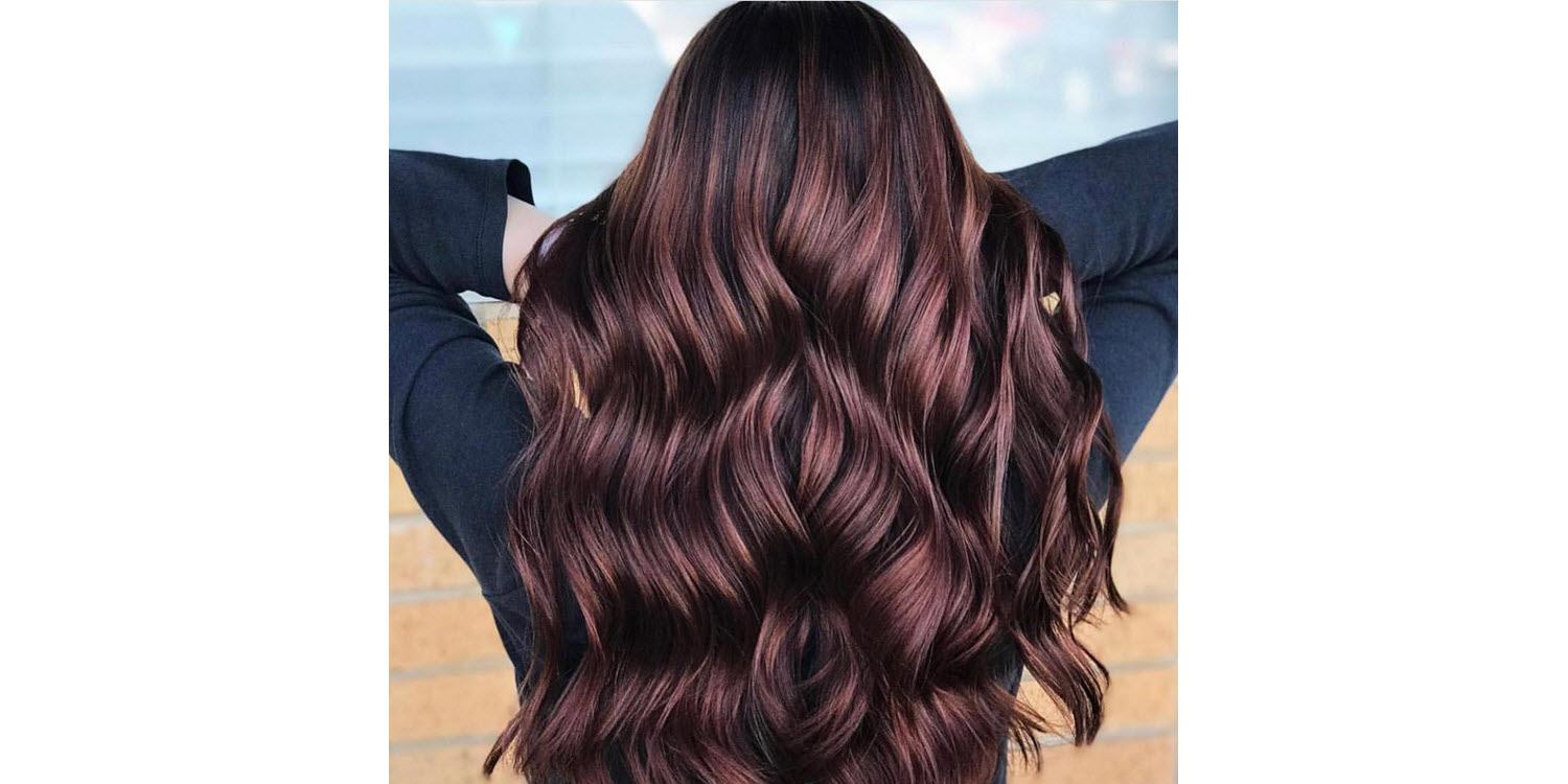 Chocolate Glaze highlights for dark hair