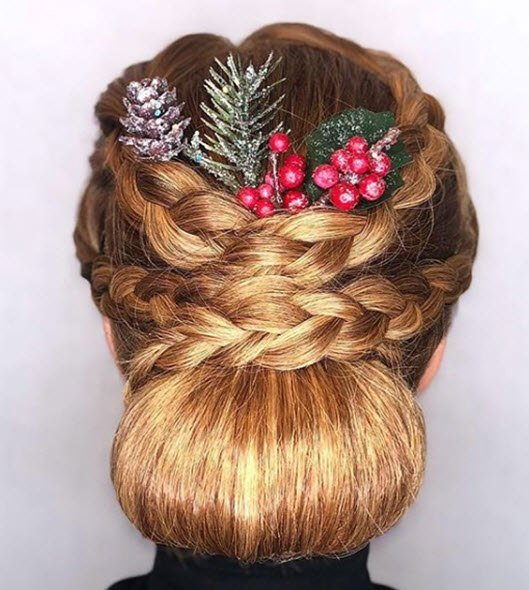 braided chignon bun hairstyle